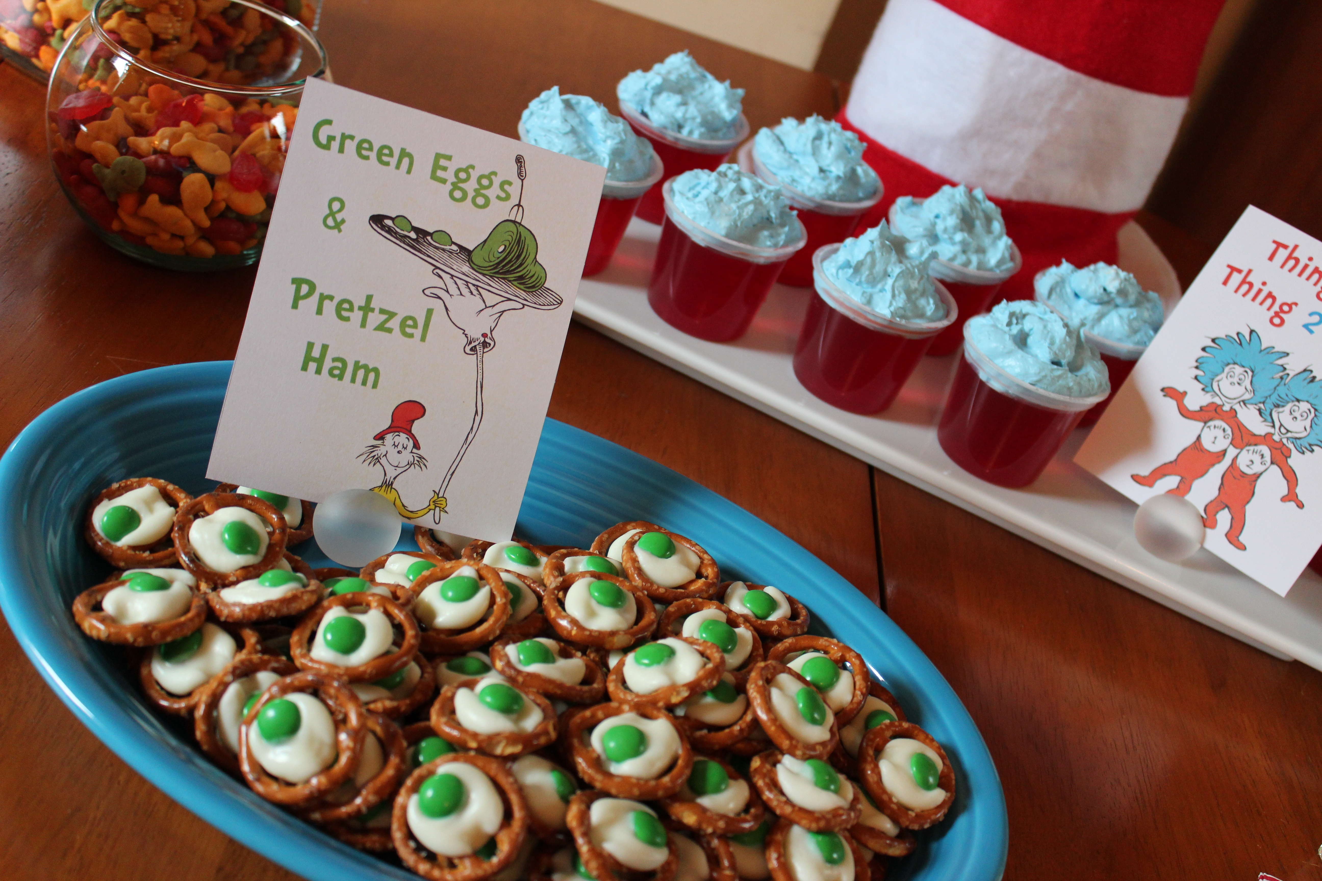 Dr. Seuss Play Date Party - Ice Cream Off Paper Plates