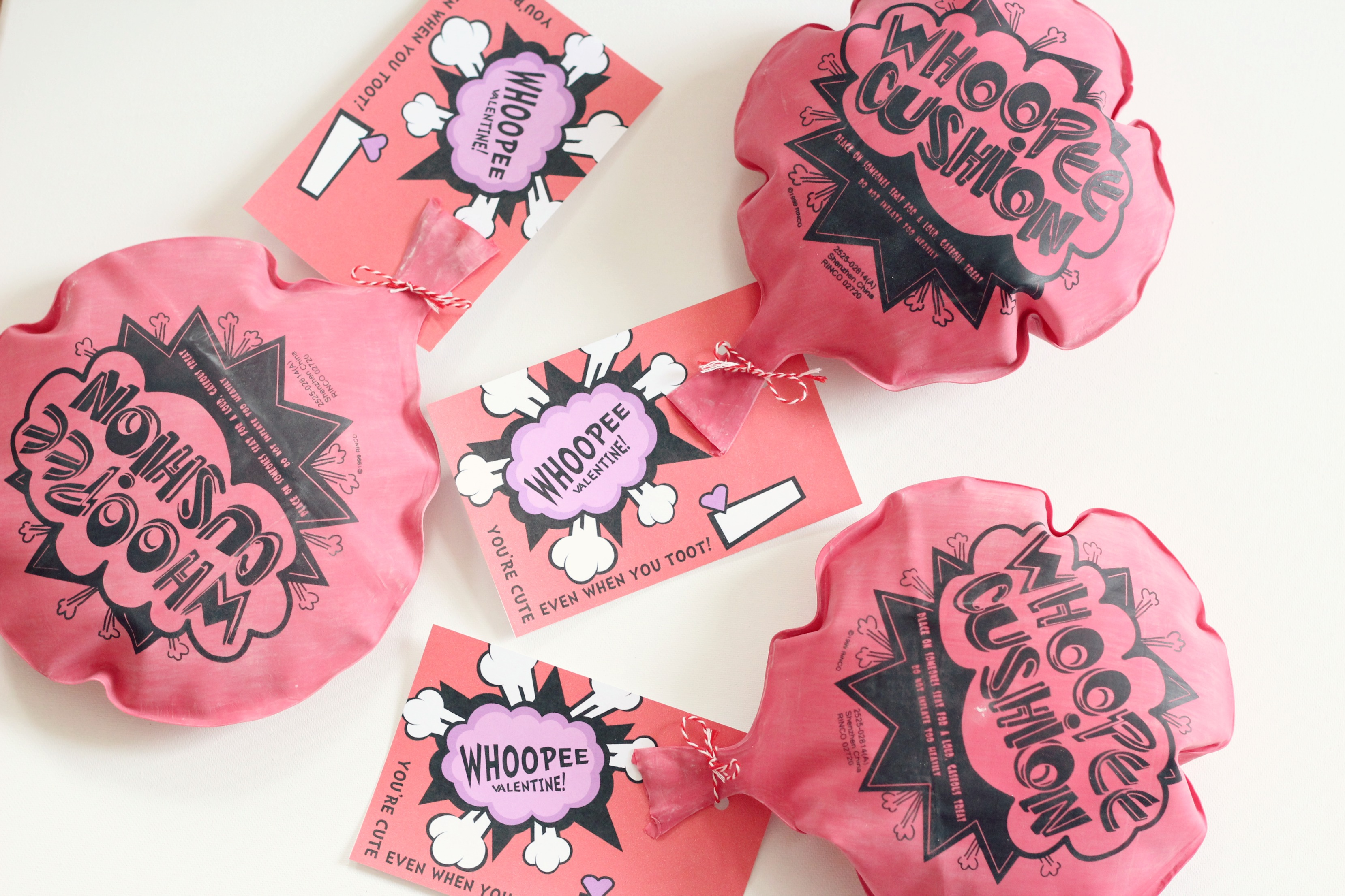 Whoopee Cushion Valentines With Free Printable   Ice Cream Off Paper Plates